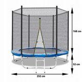 trampolina-ogrodowa-252cm-z-siatka-drabinka-fit-net-stan-nowy