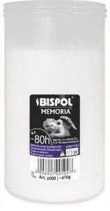 Zdjęcie produktu Wkład do zniczy parafinowy BISPOL P500 80H 1szt.