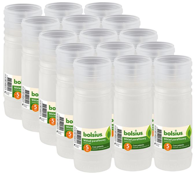 Zdjęcie produktu Wkłady do zniczy parafinowe BOLSIUS 5D 120H 15szt.