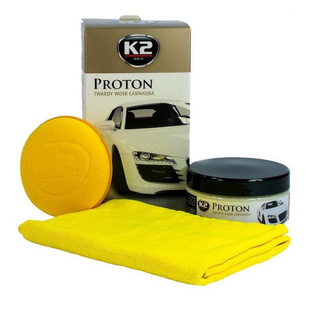 Zdjęcie produktu K2 Proton twardy wosk Carnauba do ochrony lakieru - zestaw 200g