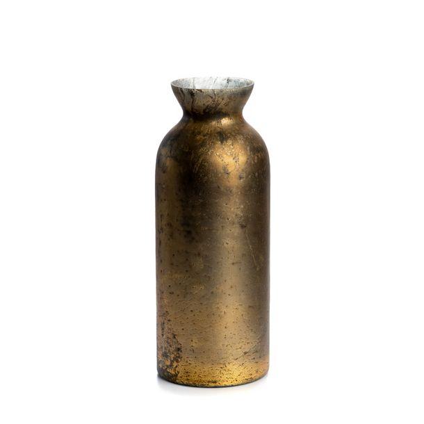 Zdjęcie produktu Szkło wazon przecierany 36cm stare złoto