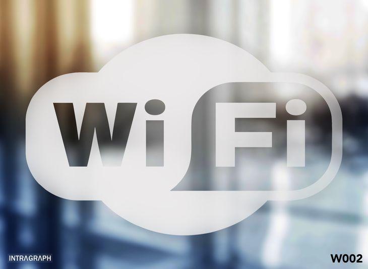"""Zdjęcie produktu Naklejka """" Wi-FI""""  Folia szron - W002"""