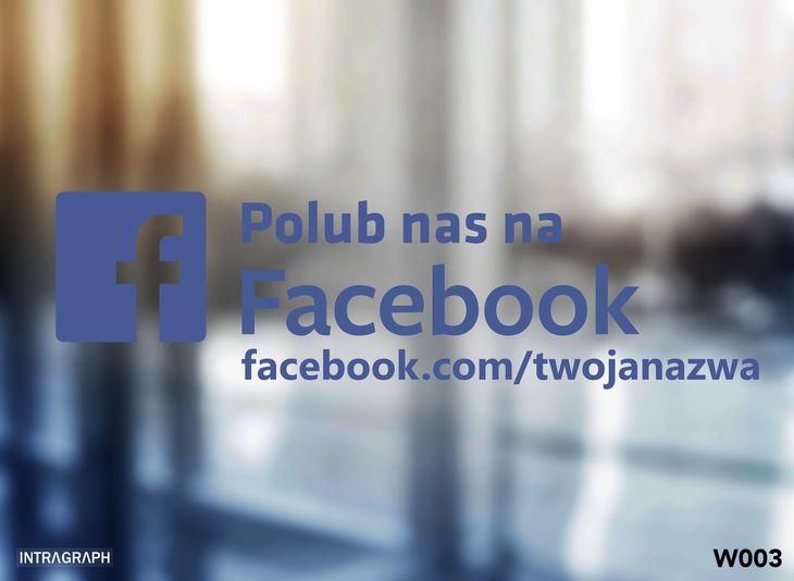 "Zdjęcie produktu Naklejka "" Polub nas na Facebook "" - W003"