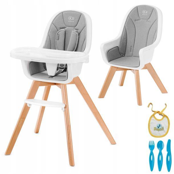 Zdjęcie produktu KINDERKRAFT krzesełko do karmienia 2w1 TIXI Gray