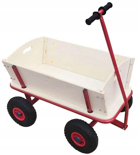 Zdjęcie produktu Taczka Wózek Transportowy Ogrodowy Bez Plandeki