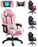 fotel-gamingowy-pro-gracza-obrotowy-rozowy-masaz-gratis-waga-z-opakowaniem-16-kg