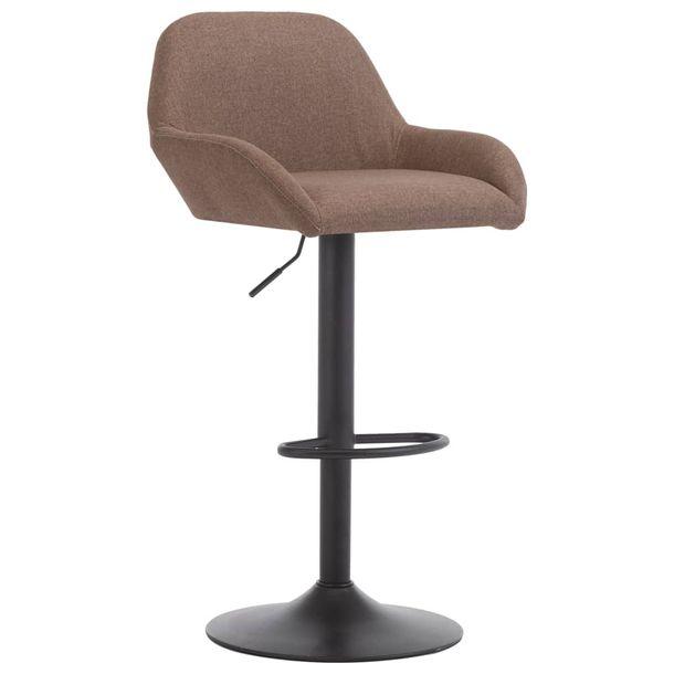 Zdjęcie produktu Krzesło barowe z podłokietnikami, taupe, tkanina