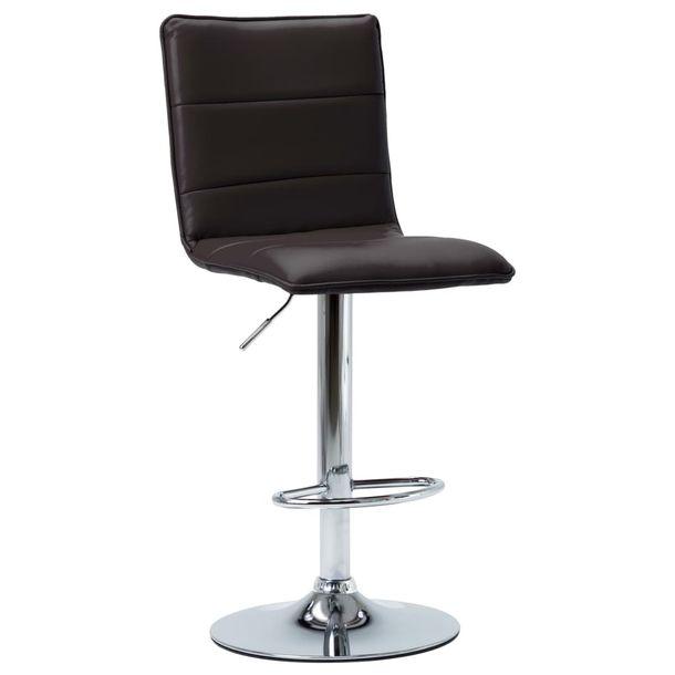 Zdjęcie produktu Krzesło barowe, brązowe, sztuczna skóra