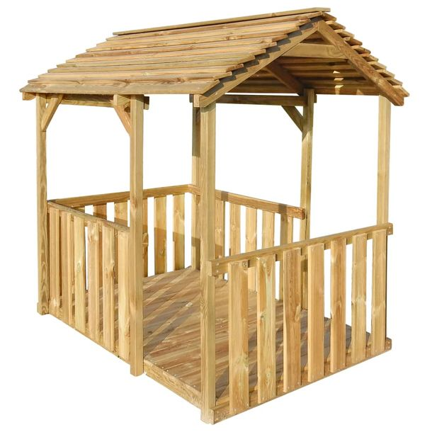 Zdjęcie produktu Ogrodowy domek do zabawy, 122,5 x 160 x 163 cm, drewno sosnowe
