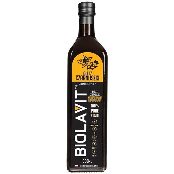 Zdjęcie produktu Biolavit Olej z czarnuszki zimnotłoczony - 1000 ml