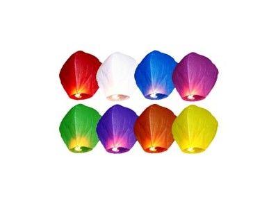 Zdjęcie produktu LAMPIONY LATAJĄCE SZCZĘŚCIA ŚLUB PROMOCJA 10SZT