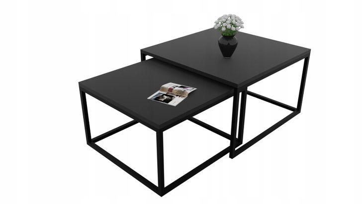 Zdjęcie produktu Ława Yoshi 2w1 stolik kawowy czarny MAT czarny