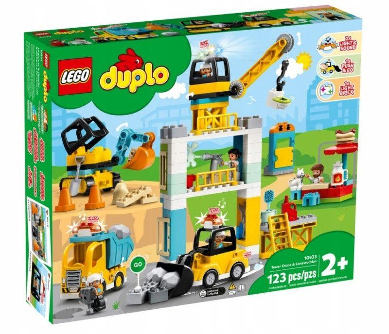 KLOCKI LEGO DUPLO ŻURAW WIEŻOWY I BUDOWA 10933