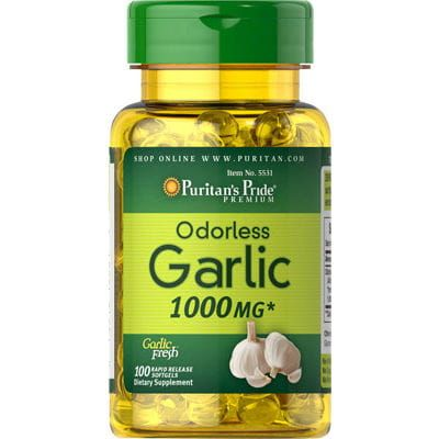 Zdjęcie produktu Czosnek bezzapachowy 1000mg Garlic 100 kapsułek Puritan's Pride