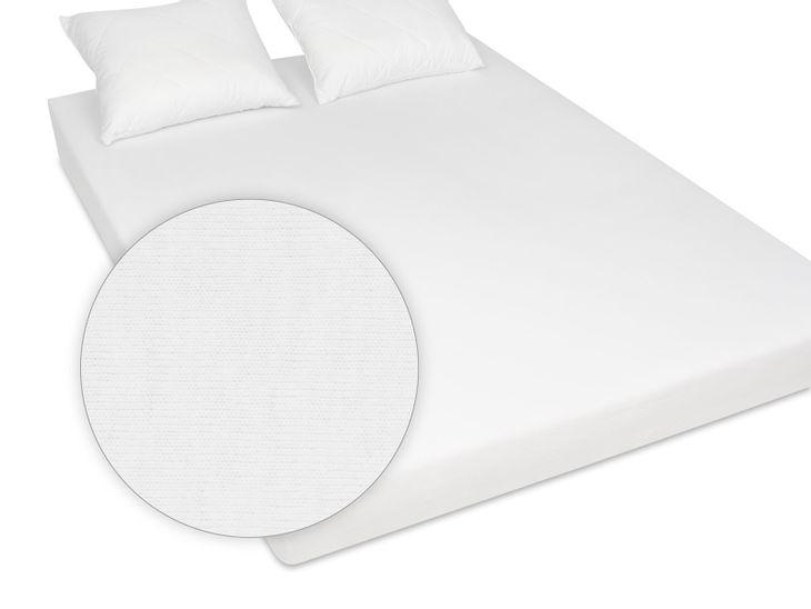 Zdjęcie produktu Prześcieradło jersey bawełniane 160x200 cm białe z gumką