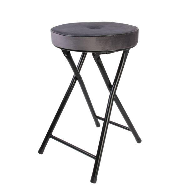 Zdjęcie produktu Składany stołek Margot Velvet szary