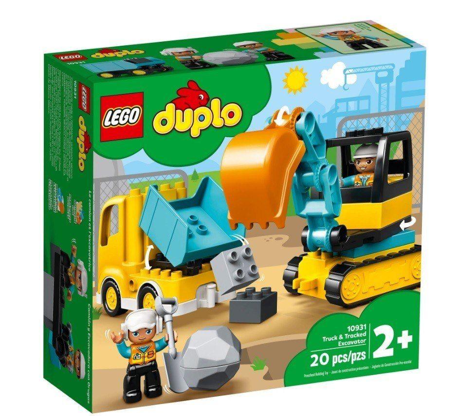 LEGO Klocki DUPLO Ciężarówka i koparka gąsienicowa
