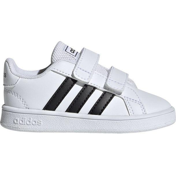 Zdjęcie produktu Buty dla dzieci adidas Grand Court I biało czarne EF0118