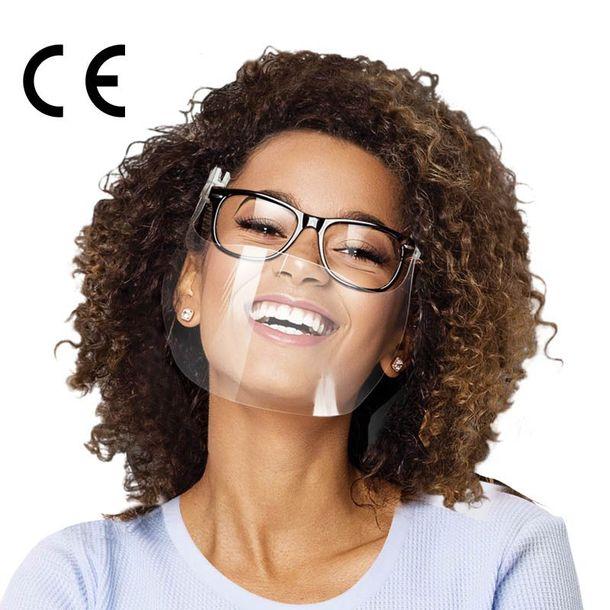 Zdjęcie produktu Mini przyłbica Osłonka pod okulary Smart Shield przezroczysta maseczka niep