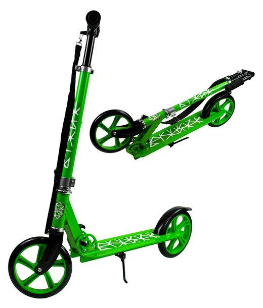 Zdjęcie produktu DUŻA HULAJNOGA SKŁADANA PASEK KOŁA 20,5 CM 100KG Kolor: Zielony