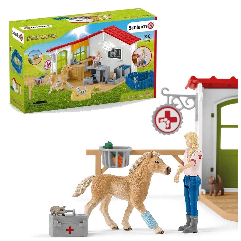 Schleich 42502 gabinet weterynarza farm world zwierzęta weterynarz akcesori