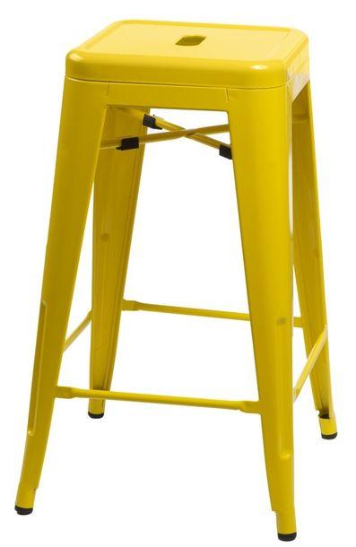 Zdjęcie produktu Stołek barowy Paris 66cm żółty inspirowany Tolix