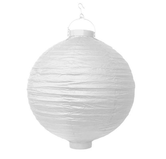 Zdjęcie produktu Lampion papierowy biały 30cm LED