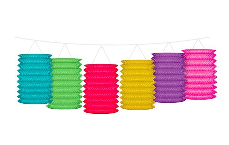 Zdjęcie produktu Girlanda z lampionami mix kolorów 3,6m
