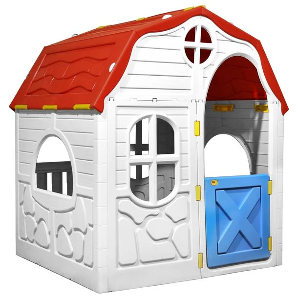 Zdjęcie produktu Domek dla dzieci z otwieranymi drzwiczkami i oknami