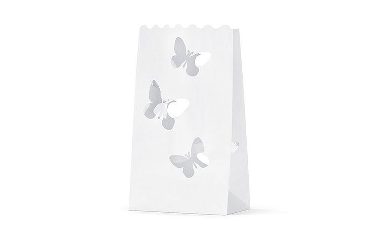 Zdjęcie produktu Lampion torebki na świece motylki 10 szt.