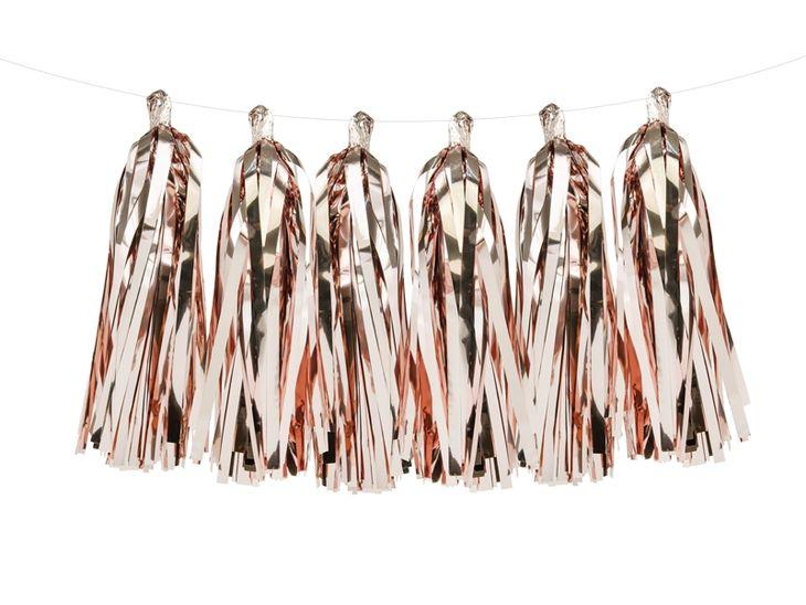 Zdjęcie produktu Girlanda frędzle, różowe złoto