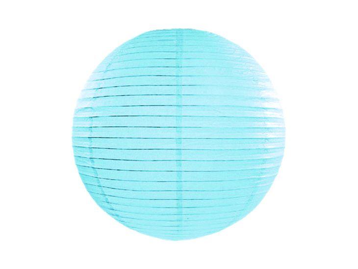 Zdjęcie produktu Lampion papierowy, błękit, 20cm