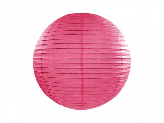 Zdjęcie produktu Lampion papierowy, ciemny róż, 35cm