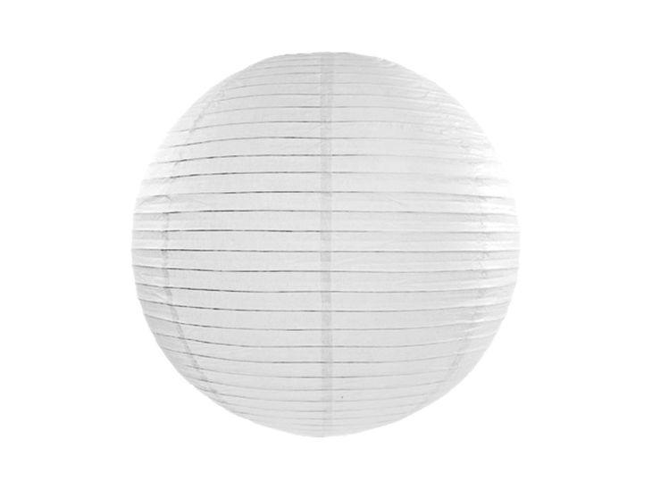 Zdjęcie produktu Lampion papierowy, biały, 35cm