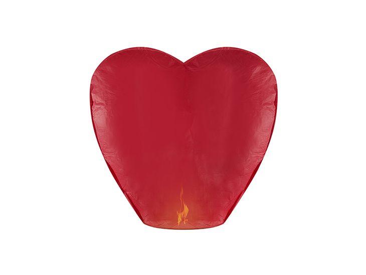 Zdjęcie produktu Lampion Serce, czerwony, 33 x 83 x 90cm