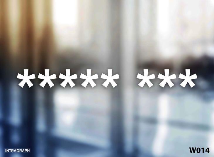 """Zdjęcie produktu Naklejka """" ***** *** """" gwiazdy MAŁA - W014"""